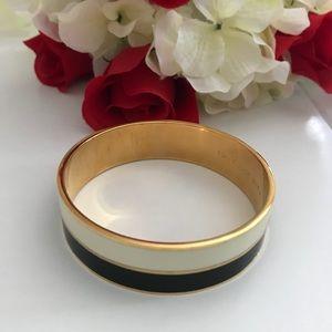 Kate Spade Bracelet, Black/Ivory/Gold Slip-On